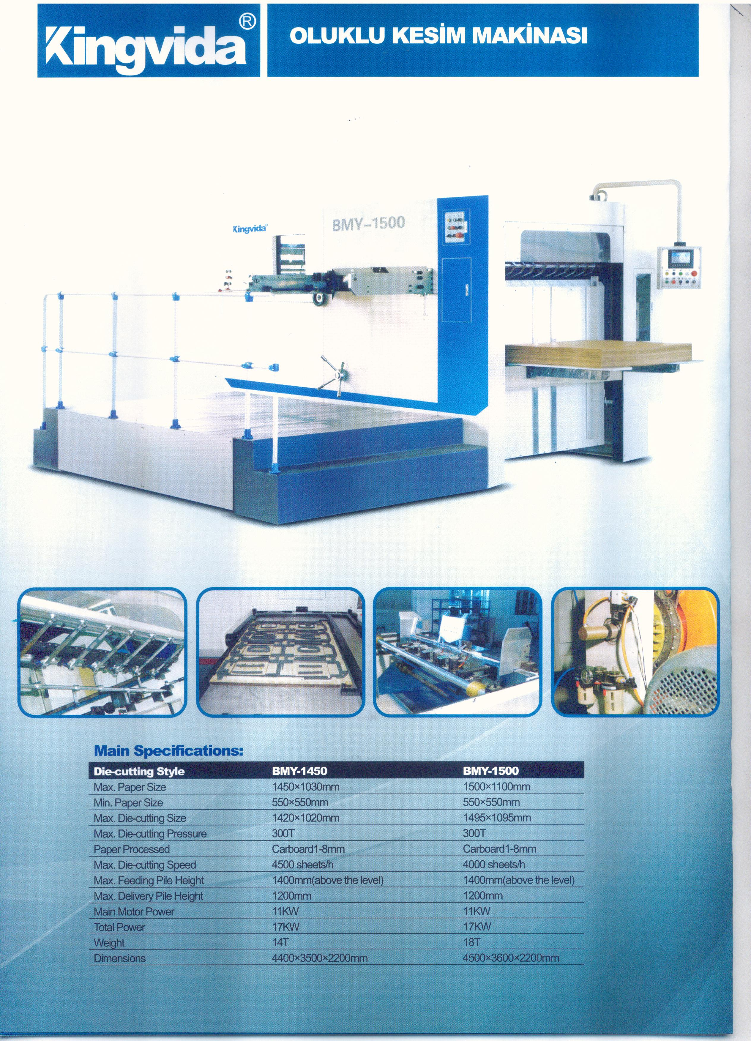 KINGVIDA BMY1500 SEMI AUTOMATIC DIECUTTING MACHINE