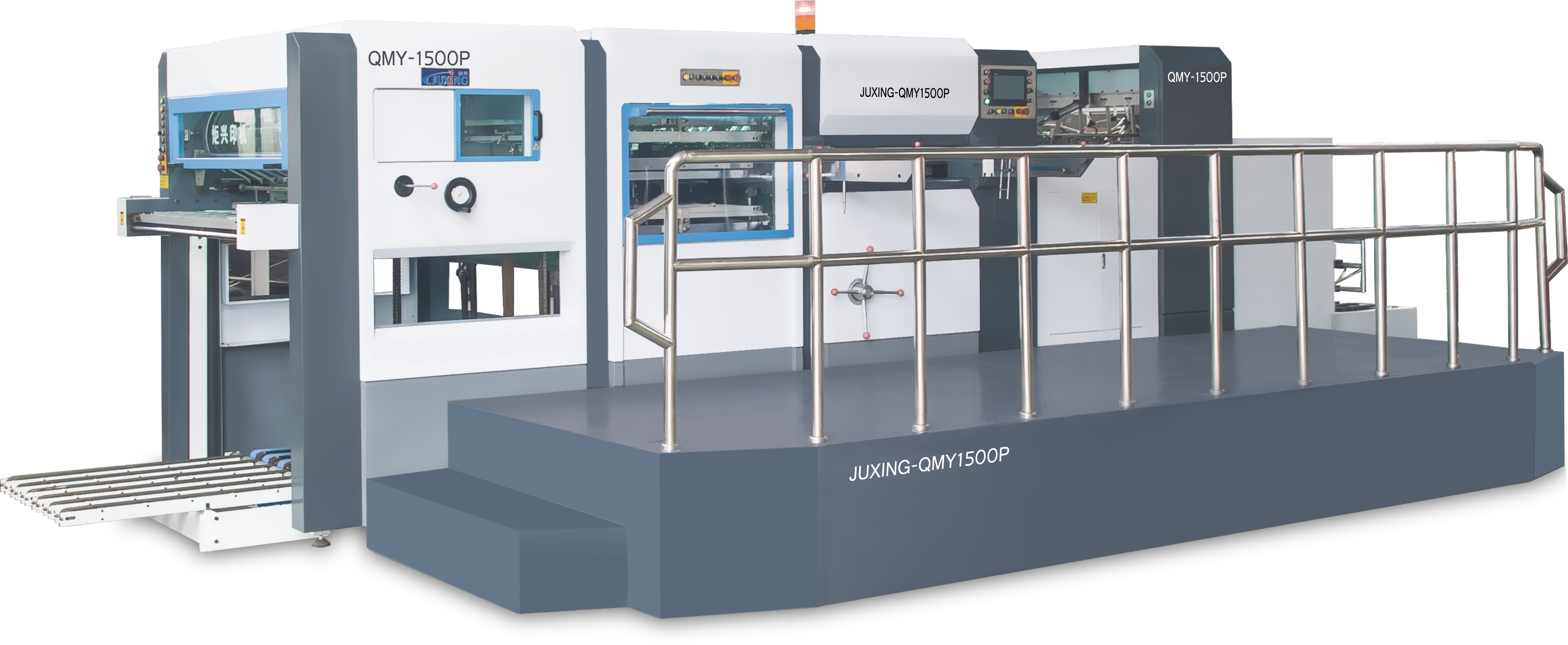 JUXING QMY1300P/1500P Automatic Die-Cutting & Creasing Machine with Stripping Unit